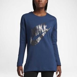 NIKE blue sweater XL polka logo